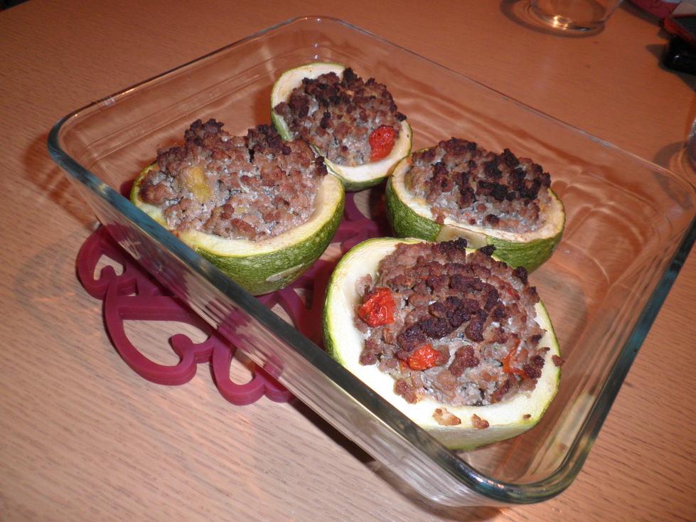 Zucchine ripiene for Cucinare zucchine tonde