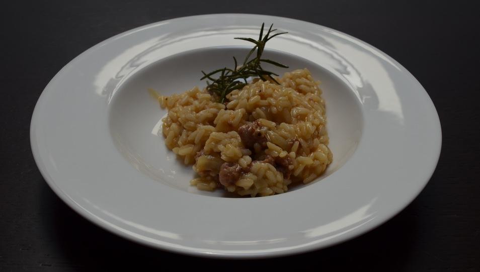 risotto zucca salsiccia