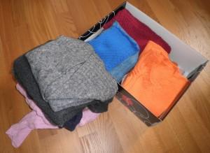 sistemare i maglioni in poco spazio