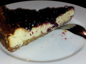 cheesecake con marmellata all'amarena