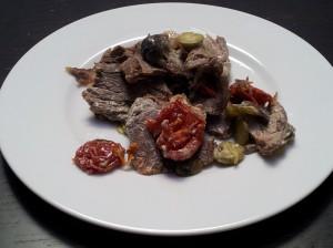 insalata di carne condita