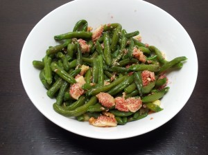 insalatona fagiolini, fichi e noci