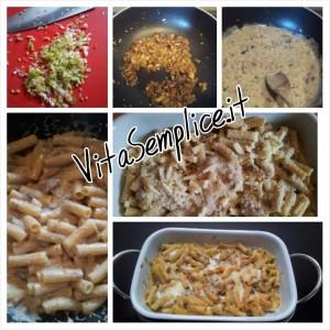 pasta al forno vegetariana con funghi