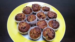 muffin integrali all'avocado