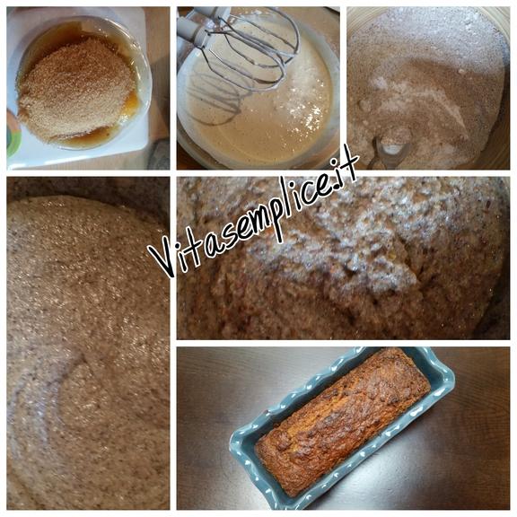 Plumcake integrale allo yogurt e frutta