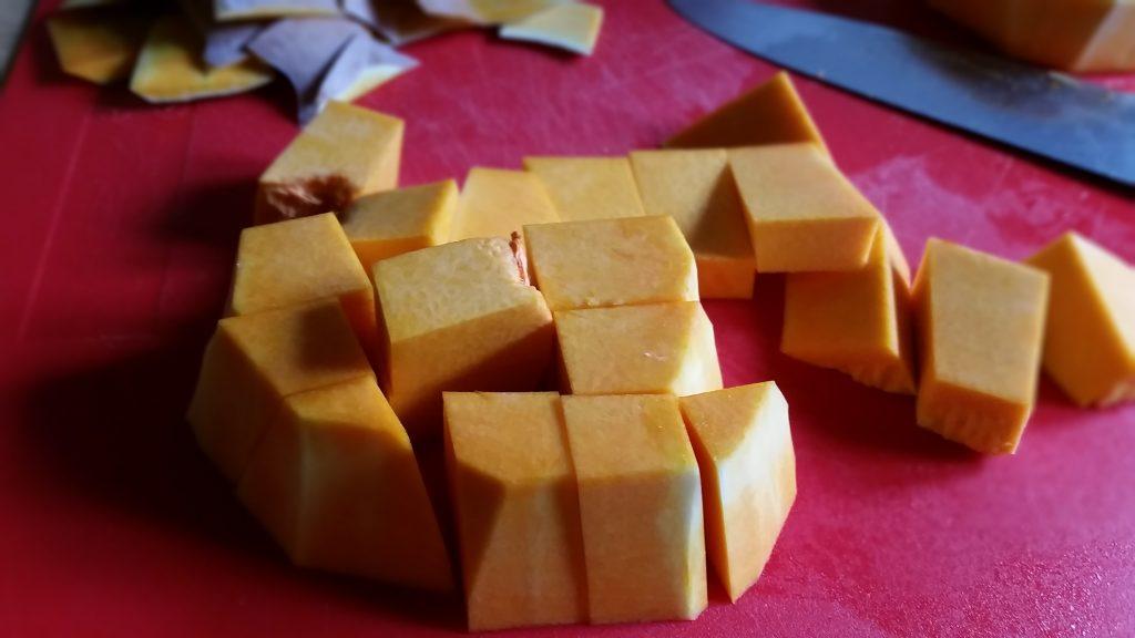 preparazione cheesecake alla zucca