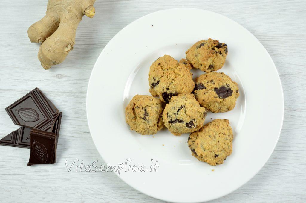 biscotti natalizi allo zenzero e cacao amaro