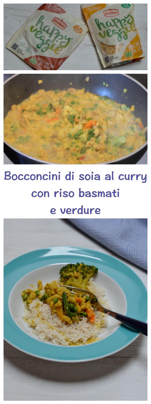 preparazione bocconcini di soia al curry