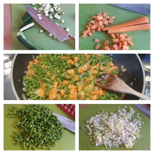 preparazione polpette di verdure