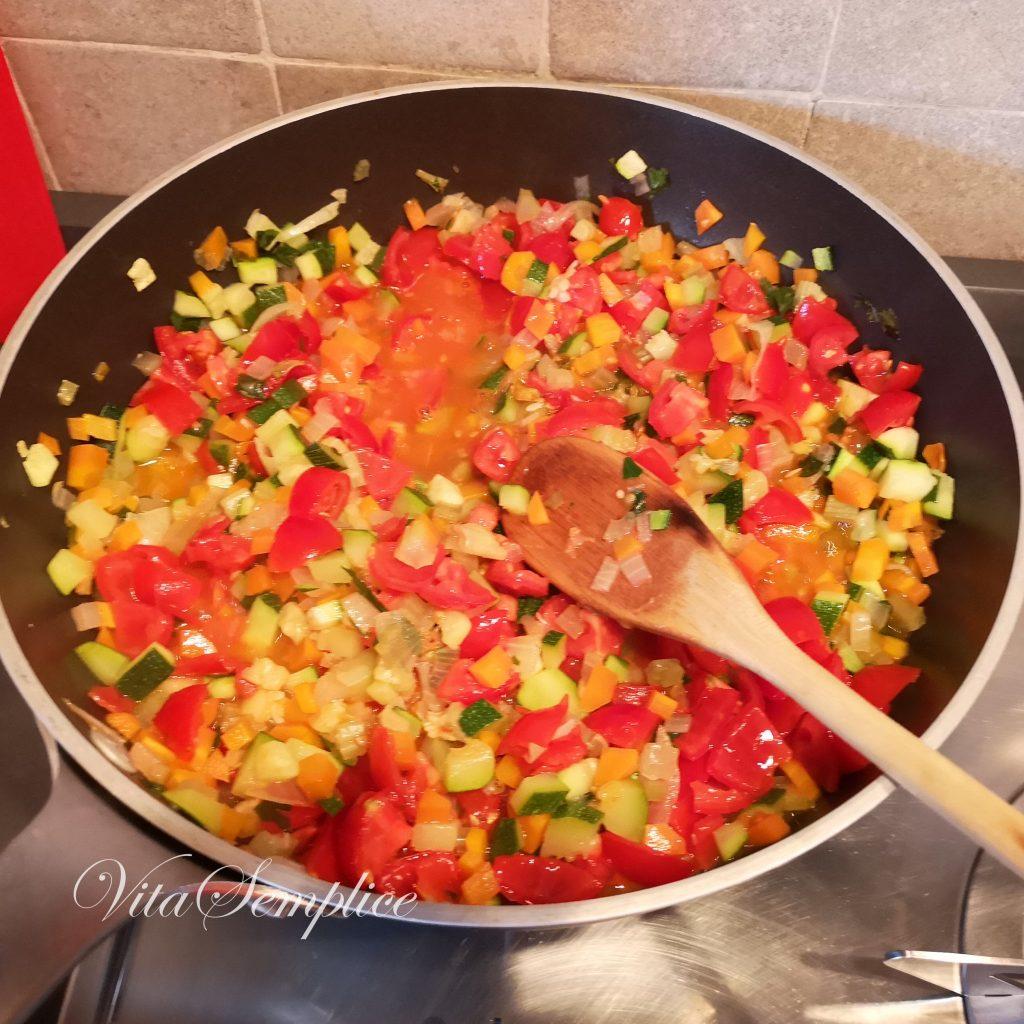 ragu di verdure preparazione